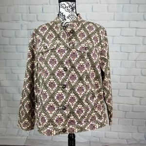 Charter Club button long sleeve jacket size 1x